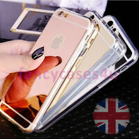 Luxury Soft Mirror Metal Ultra Thin Cover Case For Apple iPhone 5 6 7 SE 7Plus