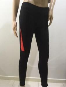 Jaggad Fleece Long Cycling leggins Tights Pants bike Women/Girls XXS-M Black/Red