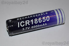 NEXcell Li-ion Akku 3,7V 6000mAh ICR 18650 accu Batterie f. LED Fahrradlampe NEU