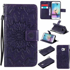 (Purple) Emboss Mandala Wallet Leather Flip Case Cover For Samsung Nokia Sony LG