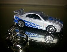 NISSAN SKYLINE GT-R R34~FAST & FURIOUS KEY CHAIN KEY RING NEW ITEM! LAST ONE!