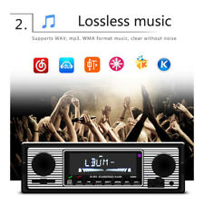 Vintage Car Bluetooth Radio MP3 Player Stereo USB/AUX Classic Stereo Audio FM WW