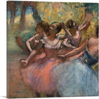 ARTCANVAS Four Ballet Dancers on Stage 1885 Canvas Art Print by Edgar Degas