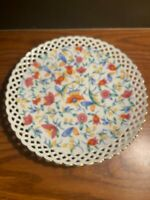 FINE WHITE CHINA BOWL MADE IN GERMANY RETICULATED FLORAL DISH BEAUTIFUL VINTAGE