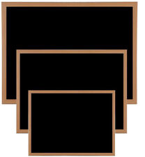 5eae7bce4bb 90cm X 60cm Heavy Duty Magnetic Chalk Blackboard Wooden Framed Memo Board  and