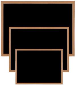 PREMIUM BLACKBOARD MAGNETIC WOODEN FRAMED OFFICE NOTICE MENU CHALK BOARD