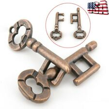 Vintage Metal Cast God Lock Key Puzzle Toy IQ/&EQ Mind Brain Teaser Kid Gift JH