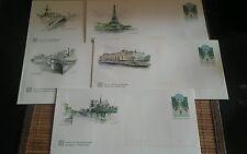 Lot de 5 enveloppes Prêt à Poster illustrées Paris - Lettre prioritaire