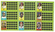 1981 Topps BASEBALL Scratch Off Complete Set 108 Cards Each With 3 Panels NM-MT