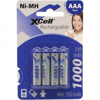 4 XCell PHONE DECT POWER AKKU Micro AAA 1.2V Typ 1000 mAh NiMH HR03 TELEFON ACCU