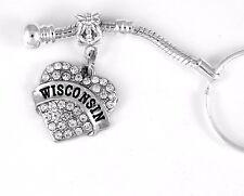 Wisconsin jewelry Wisconsin key chain Badger gift WI best jewelry gift Wisconsin