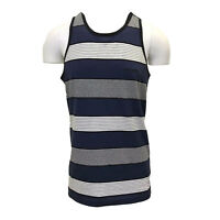 Rip Curl Men's Midnight Blue Striped Sleeveless Tank Top (Retail $25)