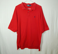 Ralph Lauren Polo Short Sleeve Golf Shirt Red Size Extra Large XL Mens Clothing