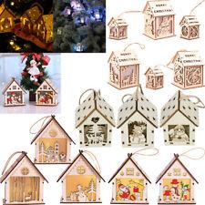 Christmas Ornaments LED Light Chalet Hotel Bar Christmas Tree Decoration UK