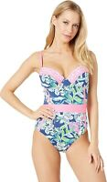 Lilly Pulitzer 162004 Womens Palma One-Piece Swimsuit Deep Sea Navy Size 4