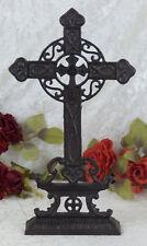 Eisen Kruzifix Standkreuz Grabkreuz Kreuz Grabschmuck Religion Antik 38 cm Deko