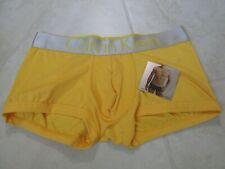 NEW Calvin Klein Steel Microfiber Low Rise Trunk Underwear MENS L YELLOW $28.00
