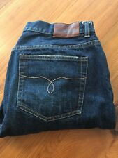 Women's RALPH LAUREN JEANS CO. Sz 14 CROPPED Dark DENIM EUC