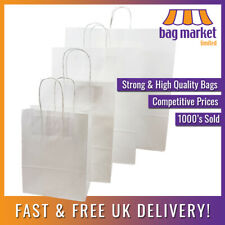 Strong White Twisted Handle Paper Bags   Kraft/Twist/Gift/Party/Fashion/Carrier