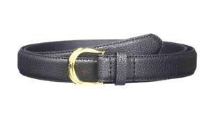 "Ralph Lauren Womens Kenton Slim Pebble Leather Navy Blue Waist Belt Small 32"""