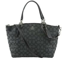 Coach Outline Signature Small Kelsey Smoke & Black - NWT - $275 MSRP!