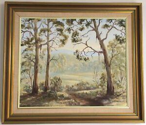 """STRATHEWEN HILLS"" - LARGE, ORIGINAL OIL AUSTRALIAN LANDSCAPE - FAYE JACKSON"