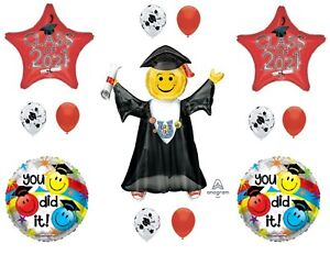 Class of 2021 Red Jumping Grad Graduation Party Balloons Decoration Supplies