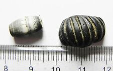 ZURQIEH - LOT OF 2 ANCIENT EGYPTIAN BEADS, 2000 YEARS +