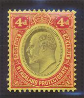Nyasaland Protectorate Stamp Scott #5, Mint Hinged