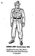 POSTCARD  MILITARY  GERMAN  ARMY  Service  Dress 1945