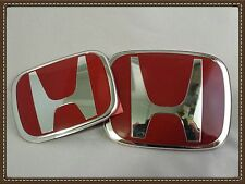 JDM 06-11 Honda Civic Si DX EX LX 2dr COUPE& 05-07 Accord 4dr. Red H Emblem  SET