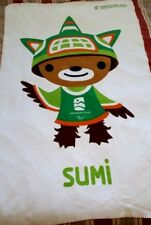 Vancouver 2010 Olympic Paralympic Fleece Blanket Hudson Bay Mascot Sumi 37x62