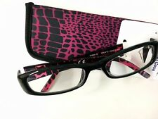 Readers Choice By Foster Grant Vianca BLK Reading Glasses W/Case +1.25 Strength
