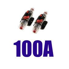 2x 100A Dc 12V Home Car Auto Special Circuit Breaker Reset Fuse Inverter