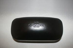 Coach New York Black Hardshell Clamshell Eye Glass Case – Black Lined Interior