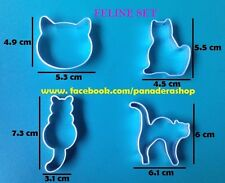 4pcs Cat Pet Cookie Fondant Gum paste Clay Cutter Mold Set