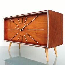 CLOCK Mantel WEIMAR UHREN EXTREME RARE Special Germany LARGE Vintage Mid Century