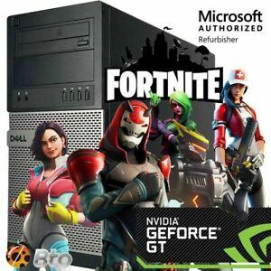 GAMING PC DESKTOP COMPUTER Dell 9020 i5 8GB GTX 750 128GB SSD +1T WIN10 WIFI