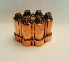 More details for antique copper benham & froud jelly / jello mould with six turrets, no number