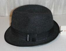 STETSON FUR FELT fedora HAT size medium DARK GREY NEW