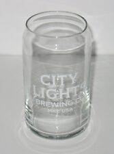 City Lights Brewing Beer Can Beer Glass