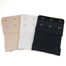 3Pcs Ladies 2/3 Hook Bra Extender Soft Bra Extension Strap Underwear Belt Adding