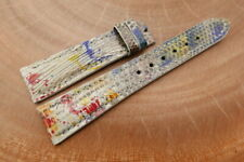 20mm/16mm Galaxy Genuine Lizard Skin Leather Watch Strap Band