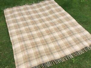 bronte at home throw pure lambs woolSofa Blanket Bed Topper Tartan Picnic Rug