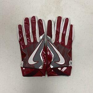 Oklahoma Sooners Nike Promo Vapor Jet 4.0 Wood Grain Football Gloves Large New