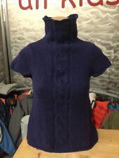 Marco Polo Core Strick Merino Wolle Pullover Kurzarm Blau Gr XS  1A Zustand