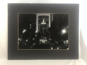 """Orig. c1980 signed George Forss """"Park Ave."""" Pan Am NYC Silver Gel Photograph"""