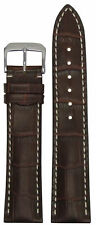 22mm XL RIOS1931 for Panatime Mahog. - New Orleans Leather Watch Band w Gator Pr