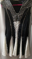 Anna Sui black and white Jewel Dress