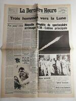 N198 La Une Du Journal la dernière heure 17 juillet 1969 Apollo 11